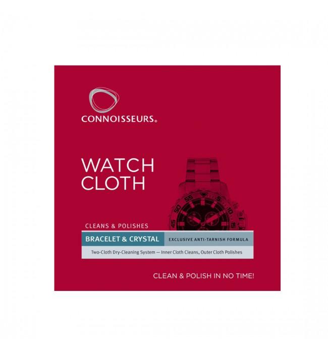Двойна суха почистваща и полираща кърпа за часовници Connoisseurs