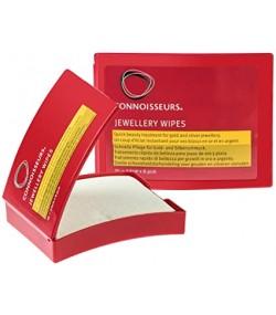 Кърпички за почистване на златни и сребърни бижута 25 бр. в кутия Connoisseurs