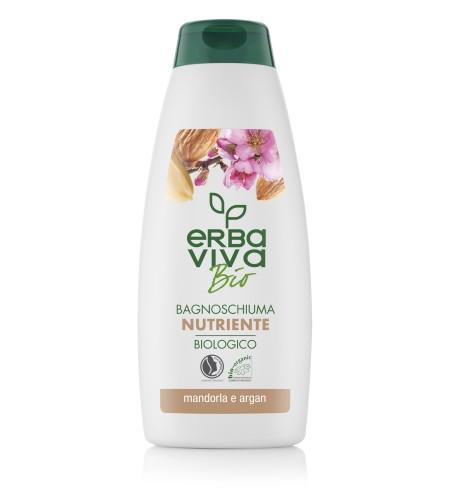 Хидратиращ душ гел с бадем и арган Erba Viva Bio 500 мл.