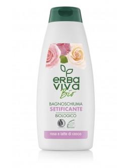 Хидратиращ душ гел с роза и кокосово мляко Erba Viva Bio 500 мл.