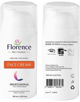 Био натурален крем за лице против бръчки с Хиалуронова киселина Florence Organics 100 мл.