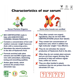 Био Натурален Серум с Витамин C и Хиалуронова киселина Florence Organics 60 мл.