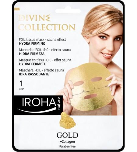 IROHA Златна стягаща лист маска за лице с 24К злато и колаген