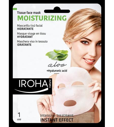 IROHA Хидратираща маска за лице с алое вера и хиалуронова киселина
