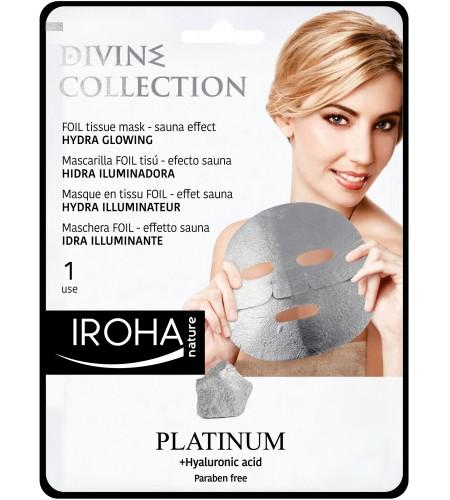 IROHA Платинена хидратираща лист маска за лице с хиалуронова киселина и платина