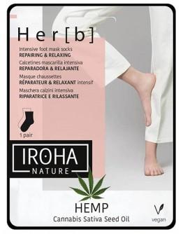 IROHA Маски за крака чорапи с конопено масло