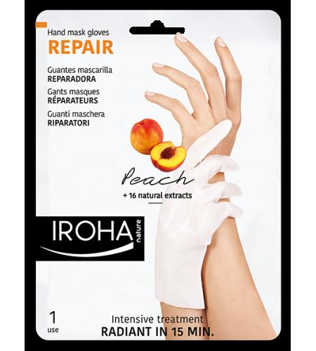 IROHA Подхранващи ръкавици с ПРАСКОВА за изтощени ръце