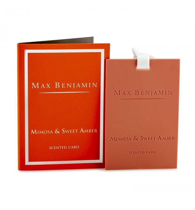 Мимоза и Сладък Кехлибар ароматна карта Max Benjamin