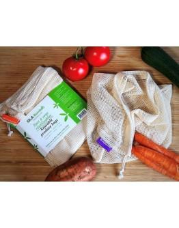 Сет - 3 бр. памучни торби за съхранение на хранителни продукти Ola Bamboo