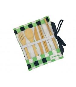 Комплект бамбукови прибори с клечки Ola Bamboo