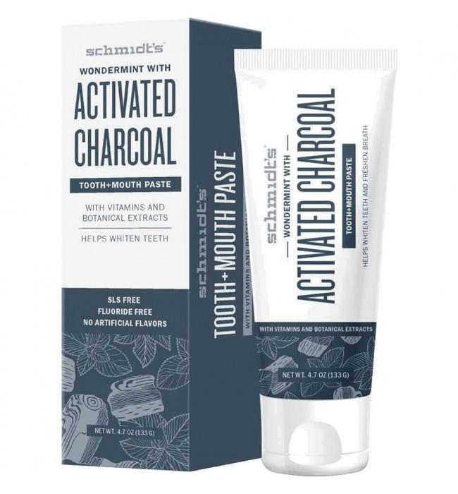 Натурална паста за зъби Активен въглен + Мента